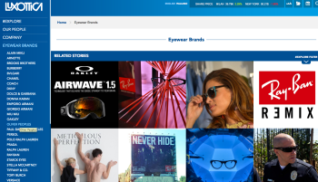 Luxottica's New Brand page